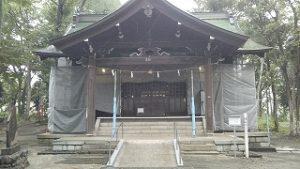 2020年9月1日 朝の富士森公園の浅間神社です