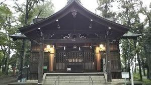 2020年10月9日 朝の富士森公園の浅間神社です