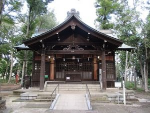 2020年10月3日 朝の富士森公園の浅間神社です
