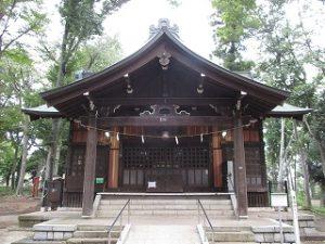 2020年10月4日 朝の富士森公園の浅間神社です