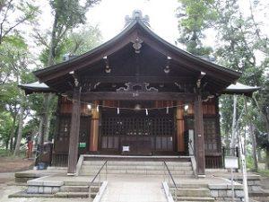 2020年10月5日 朝の富士森公園の浅間神社です