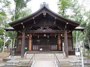 2020年10月6日 朝の富士森公園の浅間神社です