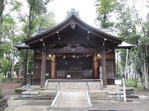 2020年10月11日 朝の富士森公園の浅間神社です