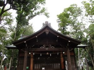 2020年10月12日 朝の富士森公園の浅間神社です