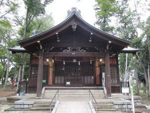 2020年10月15日 朝の富士森公園の浅間神社です