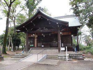 2020年10月27日 朝の富士森公園の浅間神社です