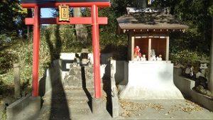 浅間神社の裏に豊川稲荷があります