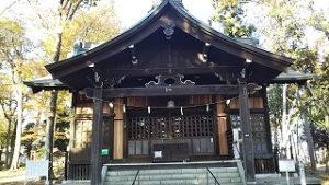 2020年11月17日 朝の富士森公園の浅間神社です