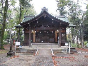 2020年11月3日 朝の富士森公園の浅間神社です