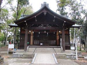 2020年11月6日 朝の富士森公園の浅間神社です