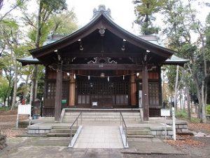 2020年11月8日 朝の富士森公園の浅間神社です