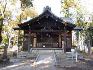 2020年11月16日 朝の富士森公園の浅間神社です