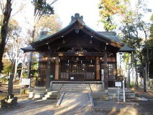 2020年11月22日 朝の富士森公園の浅間神社です