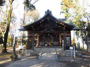 2020年11月23日 朝の富士森公園の浅間神社です