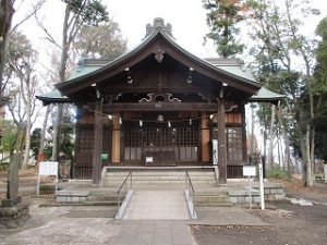 2020年11月29日 朝の富士森公園の浅間神社です