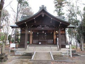 2020年12月5日 朝の富士森公園の浅間神社です