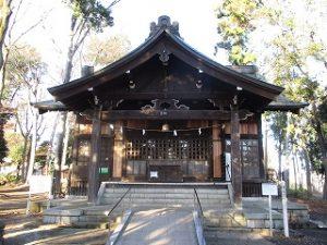 2020年12月6日 朝の富士森公園の浅間神社です