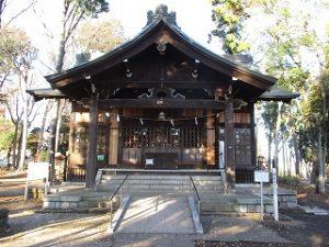 2020年12月8日 朝の富士森公園の浅間神社です