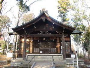 2020年12月13日 朝の富士森公園の浅間神社です