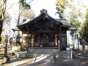 2020年12月20日 朝の富士森公園の浅間神社です