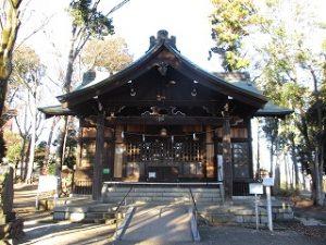 2020年12月21日 朝の富士森公園の浅間神社です