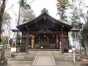 2020年12月27日 朝の富士森公園の浅間神社です