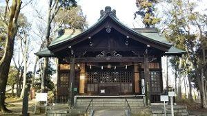 2021年1月8日 朝の富士森公園の浅間神社です