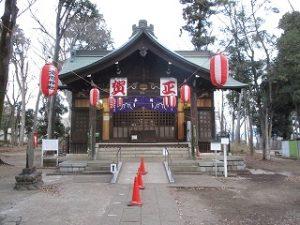2021年1月5日 朝の富士森公園の浅間神社です