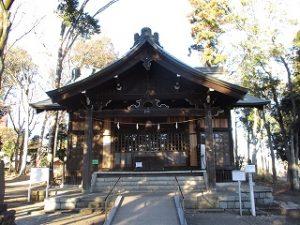 2021年1月10日 朝の富士森公園の浅間神社です