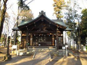 2021年1月12日 朝の富士森公園の浅間神社です