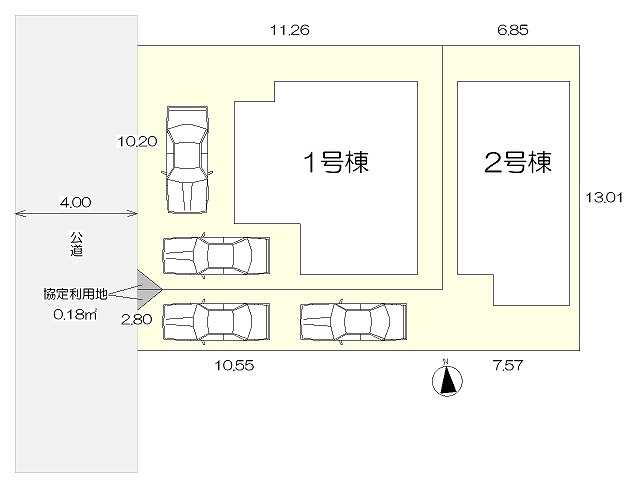 ガルボシティー八王子市清川町区画図