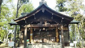 2021年4月12日 朝の富士森公園の浅間神社です