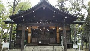 2021年4月13日 朝の富士森公園の浅間神社です