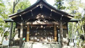 2021年4月15日 朝の富士森公園の浅間神社です