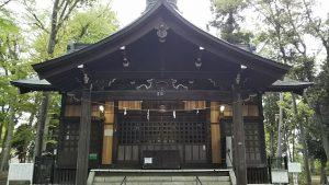 2021年4月17日 朝の富士森公園の浅間神社です