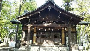 2021年4月19日 朝の富士森公園の浅間神社です