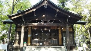 2021年4月20日 朝の富士森公園の浅間神社です
