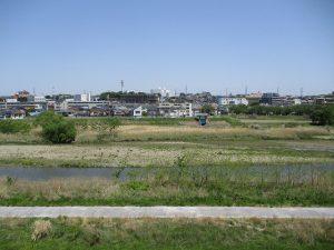 浅川の眺望が癒やされます