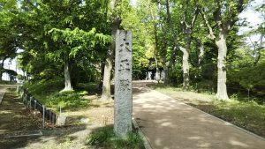 2021年5月4日 朝の富士森公園の遊歩道です