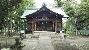 2021年5月24日 朝の富士森公園の浅間神社です