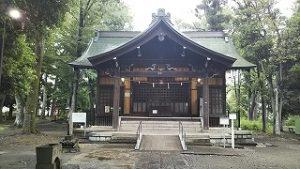 2021年6月19日 朝の富士森公園の浅間神社です