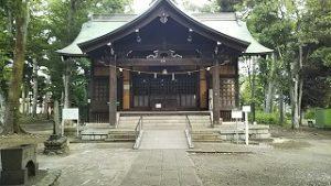 2021年6月27日朝の富士森公園浅間神社です