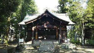 2021年6月28日朝の富士森公園の浅間神社です