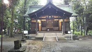 2021年6月29日朝の富士森公園の浅間神社です