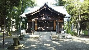 2021年7月25日朝の富士森公園の浅間神社です
