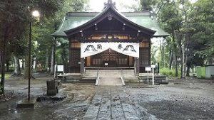 2021年7月27日朝の富士森公園の浅間神社です