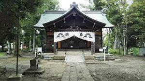2021年7月26日朝の富士森公園の浅間神社です