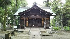 2021年7月11日朝の富士森公園の浅間神社です