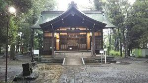 2021年7月3日朝の富士森公園の浅間神社です