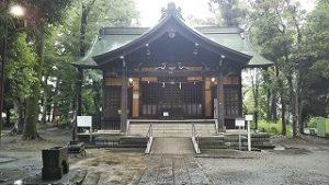 2021年7月4日朝の富士森公園の浅間神社です